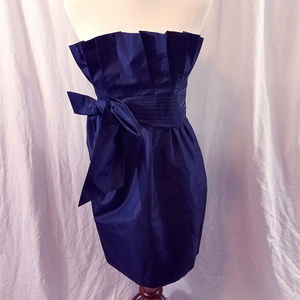Laundry by Shelli Segal Navy Blue Strapless Dress